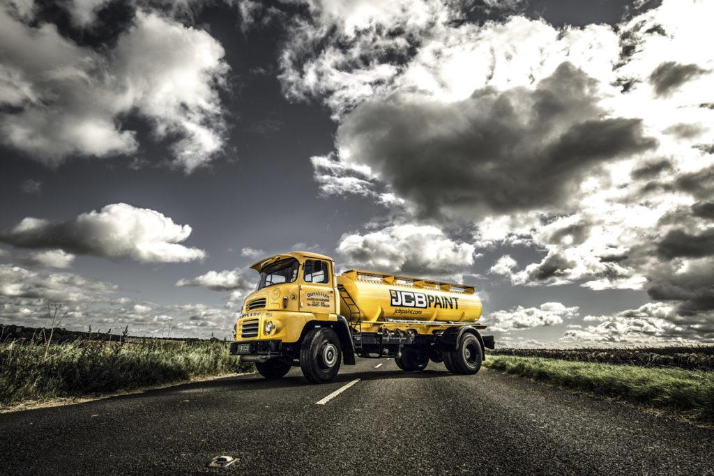 photo of JCB vintage truck